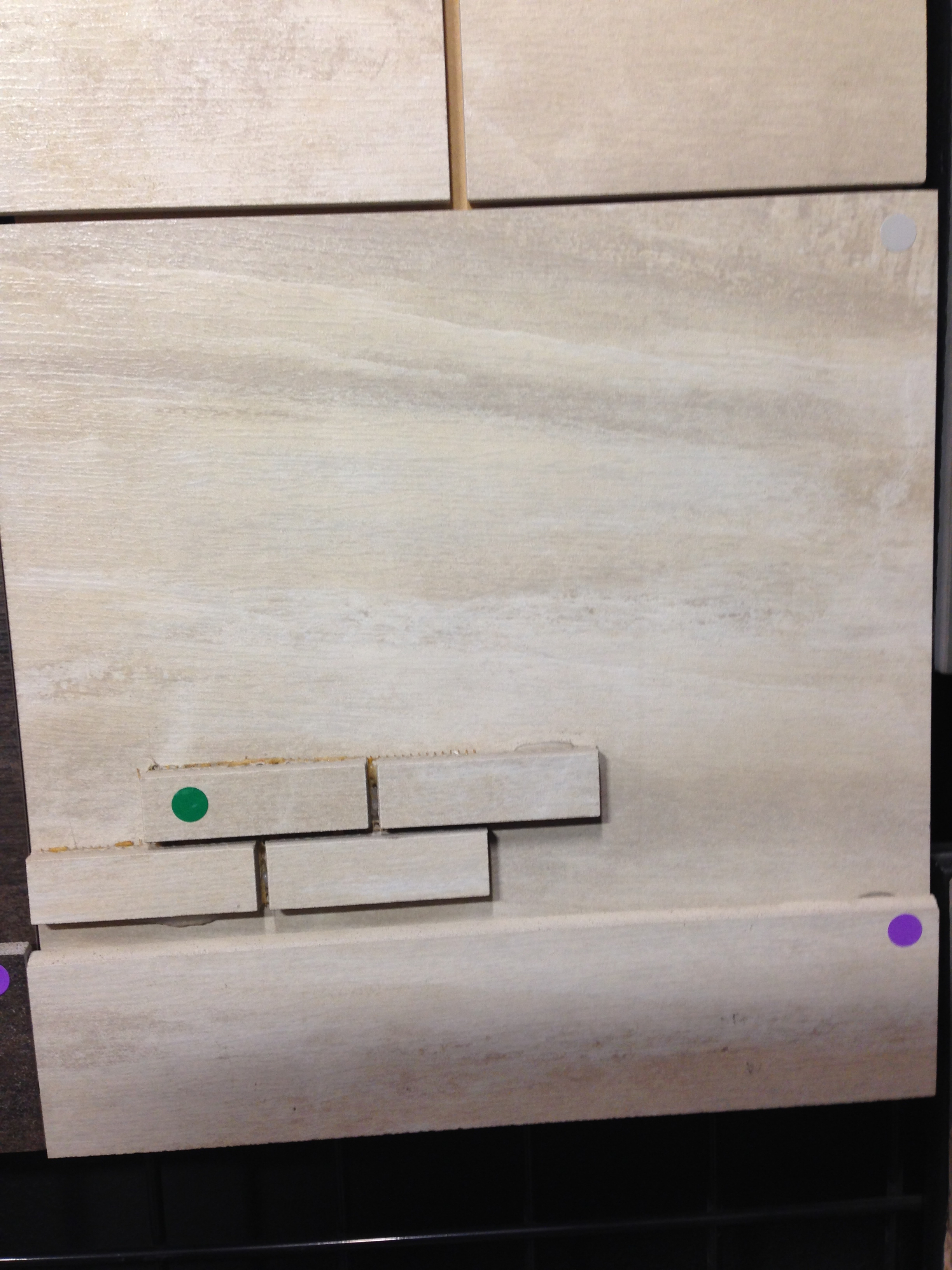 Bathroom Wall Floor Joint : Porcelain shower pan with marblelook tile and